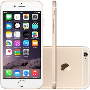 IPhone 6 16GB Dourado IOS 8 Wi-Fi Bluetooth Câmera 8MP - Apple