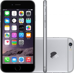 IPhone 6 Plus 128GB Cinza Espacial IOS 8 Wi-Fi Bluetooth Câmera 8MP - Apple