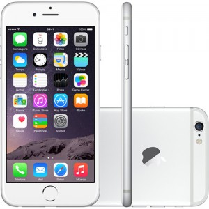 IPhone 6 128GB Prata IOS 8 Wi-Fi Bluetooth Câmera 8MP - Apple