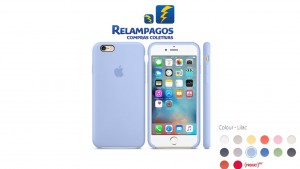Capa de silicone para iPhone 6s Plus - Lilás
