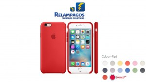 Capa de silicone para iPhone 6s Plus - (PRODUCT)RED