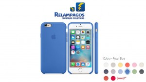 Capa de silicone para iPhone 6s - Azul-royal