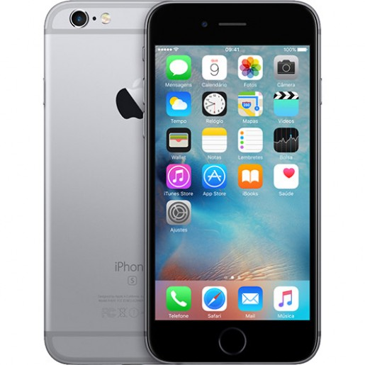 IPhone 6s 64GB Cinza Espacial IOS 9 Wi-Fi Bluetooth Câmera 12MP - Apple