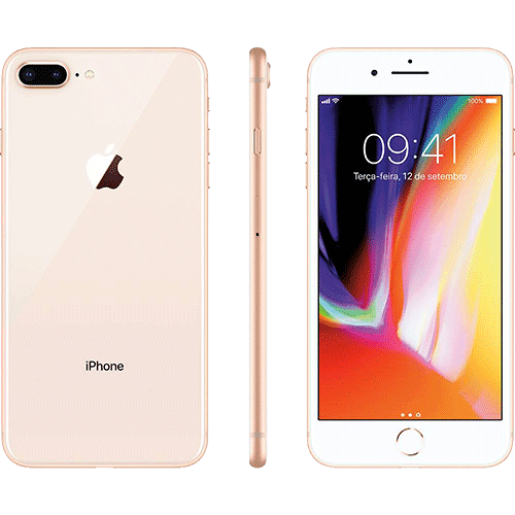 IPhone 8 Plus 64GB Dourado com Tela de 5,5, 4G, Câmera de 12 MP - Apple