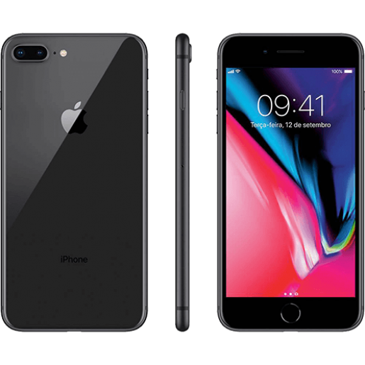 IPhone 8 Plus 256GB Cinza Espacial com Tela de 5,5, 4G, Câmera de 12 MP - Apple