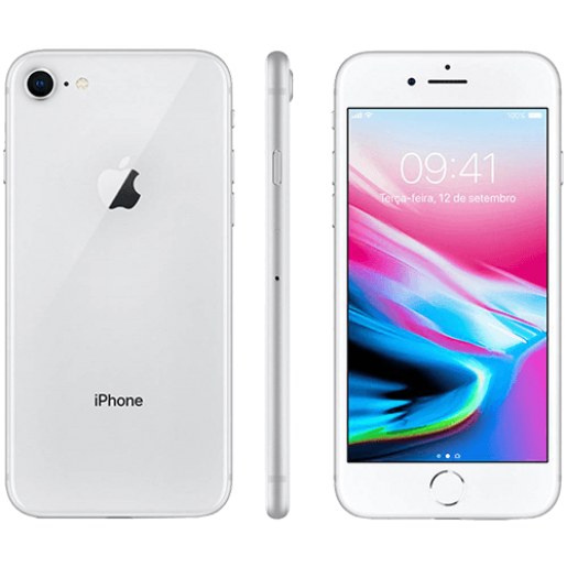 IPhone 8 64GB Prata com Tela de 4,7, 4G, Câmera de 12 MP - Apple